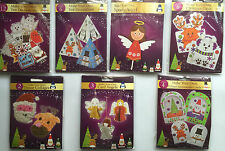 MAKE YOUR OWN CHRISTMAS DECORATION TREE SANTA ANGEL SNOWMAN STOCKING KIDS ART