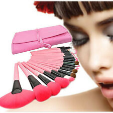 24PCS Soft Brushes Kit Cosmetic Make Up Tool Set + Pouch Bag Case Black/P No7PHP