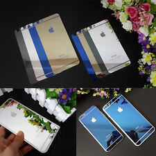 iPhone 6 6 Plus Electroplating Mirror Front&Back Tempered Glass Screen Protector