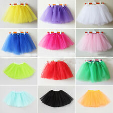 3 Layer Girls Kids Tutu Party Ballet Dance Wear Dress Skirt Pettiskirt Costume
