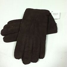 COACH Men's 100% Lamb Shearling Leather Gloves Mahogany Small Medium Warm Winter