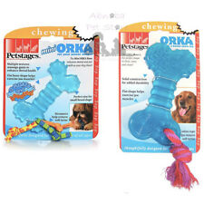 Petstages Orka Bone & Mini Medium Chewy Feel Exercise Jaw Muscles Dog Puppy Toys