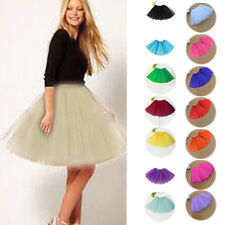 New Women Girl Pretty Elastic Stretchy Tulle Dress Teen 3 Layer Adult Tutu Skirt