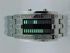 GREEN Large Chunky Space Age LED LCD DIGITAL Vintage Retro Watch Thunder storm!