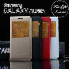 Samsung Galaxy Alpha S-View Case SM-G850 Replaces Back Cover!