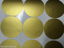 "Set of 48 3"" Dots METALLIC GOLD + 1 Color Polka Dot Circles Wall Sticker Decals"
