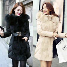 2014 New Luxurious Winter Women Thickening Down Slim Coat Fur Collar Jacket