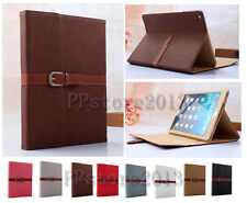 Luxury Retro Belt Buckle Briefcase Carry Leather Stand Case Smart Cover For iPad