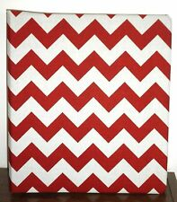 Handmade Chevron fabric cover for 3-ring binder in 5 COLOR CHOICES
