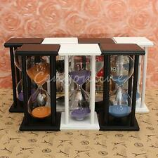 60Mins Wooden Frame Sand Sandglass Hourglass Timer Clock Decor Xmas Home Gift