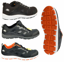 Mens Groundwork Steel Toe cap Safety Lace Work Lightweight Trainers,Steel toe