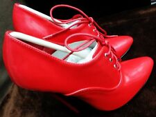 "CLOSEOUT PRICE Jante Red Sexy Woman's Ladies Shoes 6"" Stiletto Heels B7033"