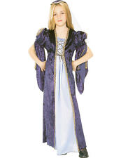 Child Juliet Medieval Maid Marion Kids Fancy Dress Book Day Week Costume
