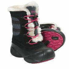 Columbia Children's Heather Canyon Boots Black, Rose  Sizes 8-13 (1294-010)