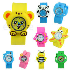 Wrist Watch Band Cartoon Unisex Children Kid Quartz Sports Bendable Rubber Strap