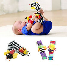 2014 Infant Baby Wrist Watches Foot Socks Rattles Cute Bug Finders Christmas Toy