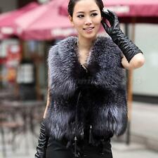 Luxury Faux Fur Vest Jacket Coat Winter Women Waistcoat Tops Outerwear MKLG