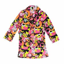 "Tweenklz Girls long sleeve plush coral fleece robe  ""Owl"" print fall and holiday"