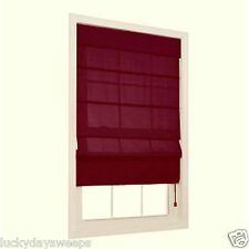 Light Filtering Energy Saving Fabric Roman Window Shades Burgundy allen roth