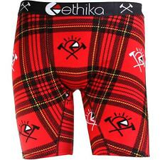 Ethika Men The Staple Long Boxers (red / flannel red)