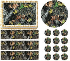 Mossy Oak Hunter Camo Print Edible Cake Topper Frosting Sheet - All Sizes!
