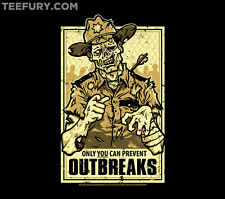 TeeFury - THE WALKING DEAD - ONLY YOU CAN PREVENT OUTBREAKS -  LIMITED EDITION