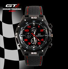 New Mens Watches Quartz Stainless Steel Analog Sports Wrist Watch GT