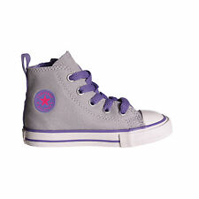 CONVERSE Chuck Taylor All Star Side Zip Hi Top Infant Kids Trainer Grey