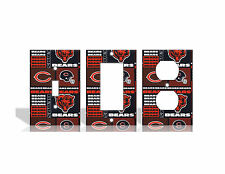 Chicago Bears #2 Orange Light Switch Covers Football NFL Home Decor Outlet