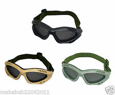 Paintball Metal Wire Mesh Airsoft Goggles Tactical Equipment for Eye Protection