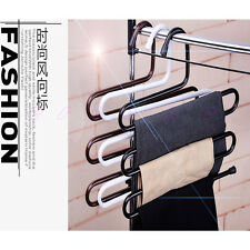Multi-Purpose 5 Layers Pants Hanger Trousers Tie Rack Space Saving Practical
