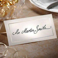 ~*Pearlized Ivory BLANK Wedding Name Place Card -Table Number Choose Quantity*~