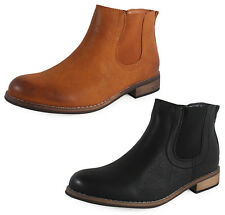 NEW WOMENS LADIES LOW HEEL CHELSEA ANKLE WINTER CASUAL SHOE BOOTS SIZE 3-8 UK