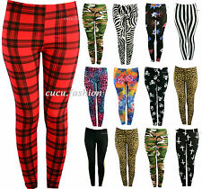 New Ladies Women Full Length Leggings Jeggings Stretchy Pants Skinny Size UK