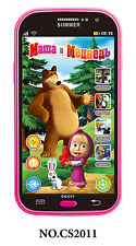 Russian Language Masha and Bear Toy Phone for Kids Baby Learning Study Machine