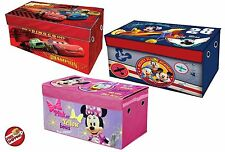 Mickey Minnie Cars Storage Trunk Toy Box Collapsible Organizer Chest Case