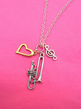 Musical Instrument Silver Plated Necklaces, Many Instruments To Choose From