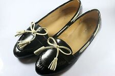 Womens / Girls Comfy Flats Casual Bow Flat Shoes (Black)