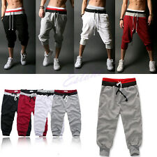 Men Sports Pants Training Dance Harem Baggy Jogger Casual Trousers Shorts Slacks