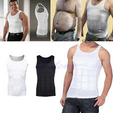 Men Body Slimming Tummy Belly Waist Girdle Shirt Shaper Vest Shapewear Underwear