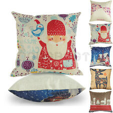 COMFORTABLE PILLOW COVERS CHRISTMAS THEME SQUARE CUSHION CASES HOME DECORATION