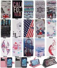 Stylish Wallet Flip PU Leather Soft Back Lovely Cover Case For Samsung For SONY