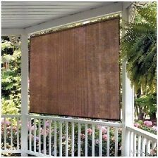 8'W x 6'L - INDOOR OUTDOOR ROLL UP SOLAR WINDOW SHADES BLIND PATIO PORCH SUNROOM