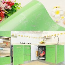 YEVITA PVC Wall Paper Kitchen Cupboard Wardrobe Cover Green Peony Sticker 610mm