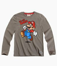 Super Mario Long Slevve T-Shirt for Boys 3 to 10 Years | Grey
