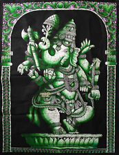 elephant god ganesha batik wall hanging ganesh tapestry ethnic art India decor