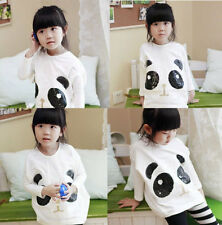 Pretty Trendy Kid Toddler Clothes Girl Spring&Fall Panda Shirt Tops Sz 3-8Y