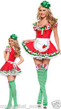 Sexy STRAWBERRY SHORTCAKE Costume Adult Womens Cosplay - (S small L large)