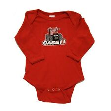 Red Long Sleeve Happy Tractor Onesie w/Case IH Logo