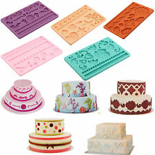 Hot Sale Cute Silicone Fondant Cake Embossing Gum Paste Decorating Baking Molds